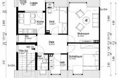 Grundriss Wohnung DG